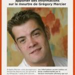 Meurtre de Gregory Mercier – les proches offrent une récompense à qui fournira de nouvelles informations.