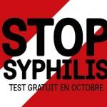 STOP SYPHILIS – Profitez d'un dépistage rapide et gratuit jusqu'au 13 novembre.