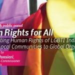 Discussion publique – droits humains pour tous: promouvoir les droits de l'homme des personnes LGBTI  (20.11.15)