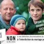 Actions de campagne « Avançons ensemble » à Genève – Non à l'initiative discriminatoire du PDC