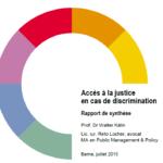 Etude – l'accès à la justice en cas de discrimination